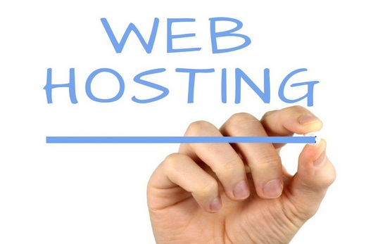 A hand writing 'web hosting'