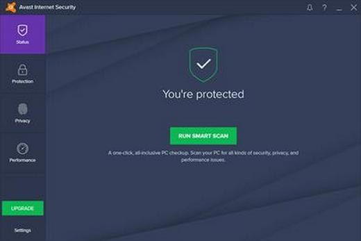 Avast antivirus program screenshot