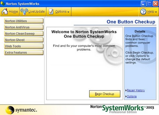 Norton Antivirus Program screenshot
