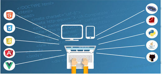 Website programming languages illustrated